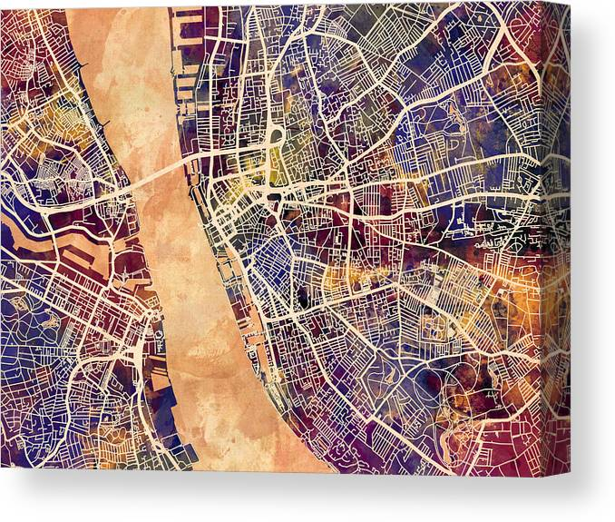 Liverpool England Street Map Canvas Print / Canvas Art by ...