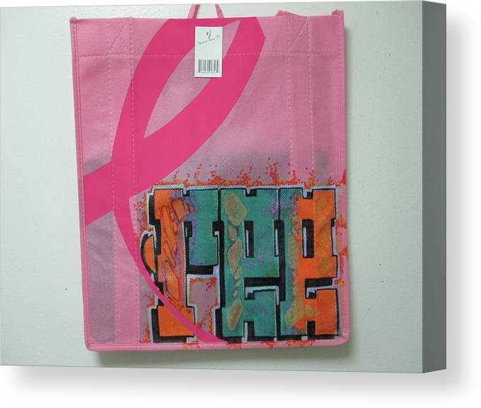 Bags Canvas Print featuring the mixed media Ree Cycle Bag by Ree Vilomar