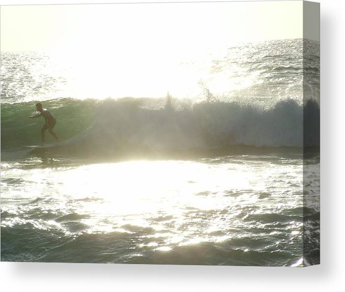 Ocean Canvas Print featuring the photograph Surf's Up by John Loyd Rushing