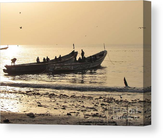 Photo Canvas Print featuring the photograph People In Gambia by Bozena Simeth