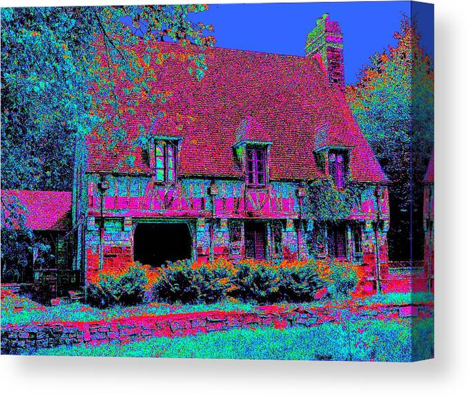 Cottage Canvas Print featuring the painting 91f Dream Cottage by Ed Immar