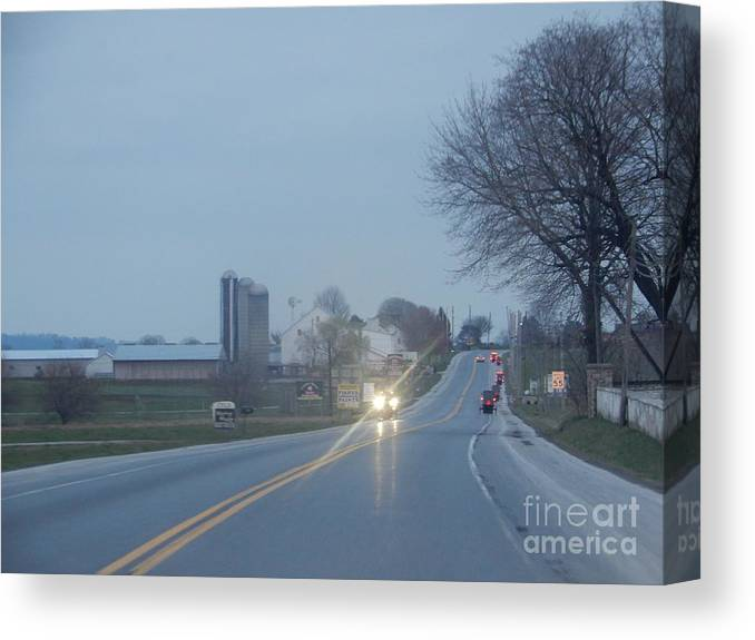 Amish Canvas Print featuring the photograph A Calm April Evening by Christine Clark
