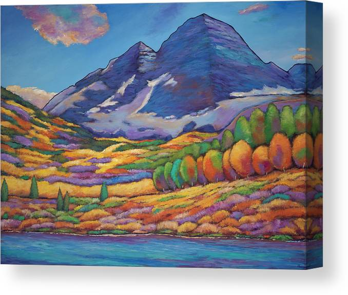 b40f09f0848 Aspen Tree Landscape Canvas Print featuring the painting A Day In The  Aspens by Johnathan Harris