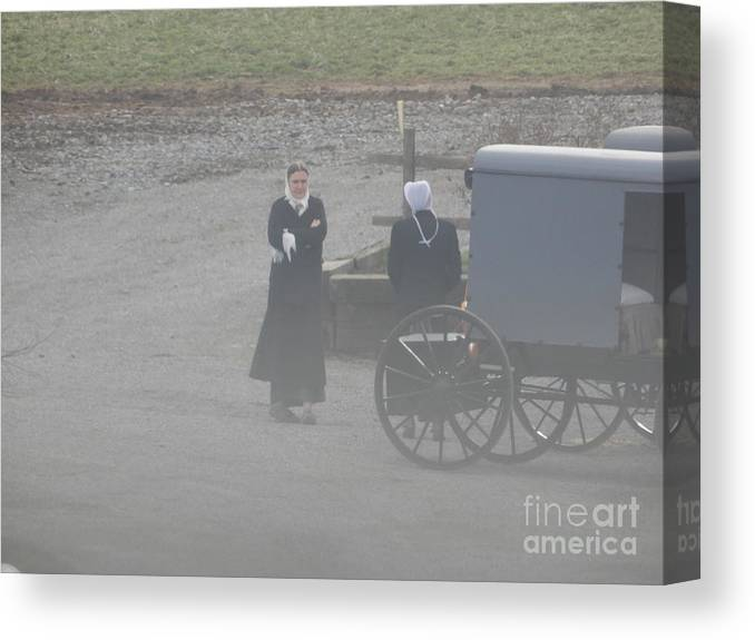 Amish Canvas Print featuring the photograph A Friendly Goodbye by Christine Clark