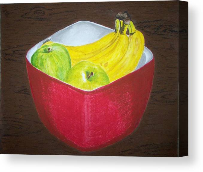 Fruits Canvas Print featuring the painting A Fruit A Day by Sanchia Fernandes