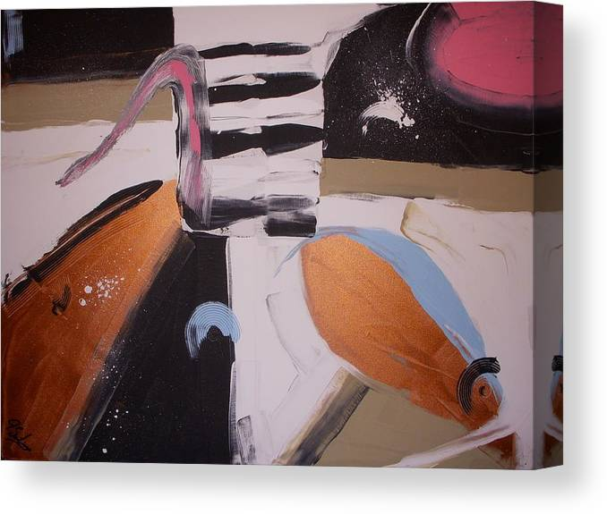 Abstract Canvas Print featuring the painting A New Day by Joey Santiago