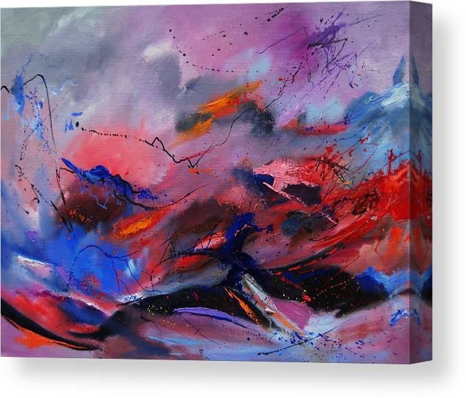 Abstract Canvas Print featuring the painting Abstract 971260 by Pol Ledent