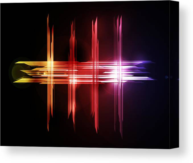Abstract Canvas Print featuring the digital art Abstract Five by Michael Tompsett