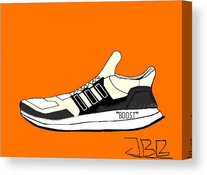e7fa5ca3122 Adidas Ultra Boost X Off White Canvas Print   Canvas Art by Jannik Billsten