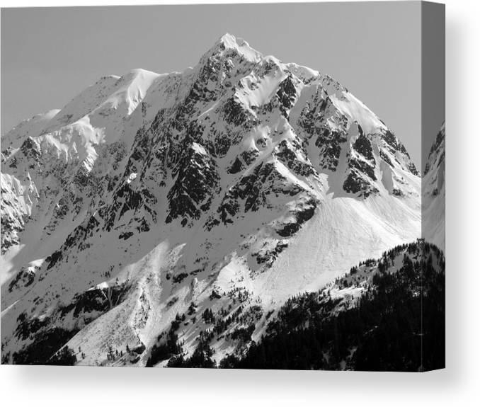 Alaska Canvas Print featuring the photograph Alaskan Peak by Ty Nichols