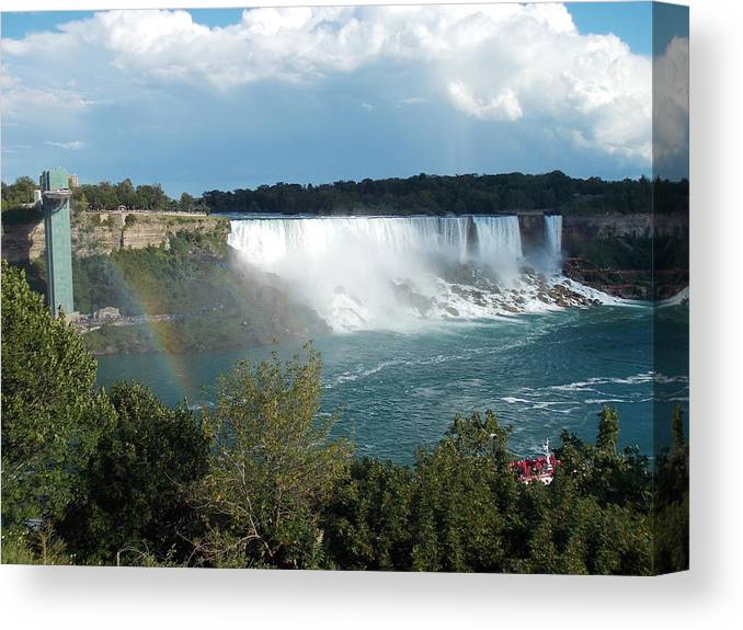 American Canvas Print featuring the photograph American Falls 1 by Nina Kindred