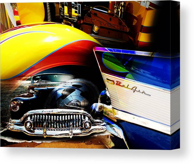 Muscle Cars Canvas Print featuring the photograph American Muscle by Phil Bishop