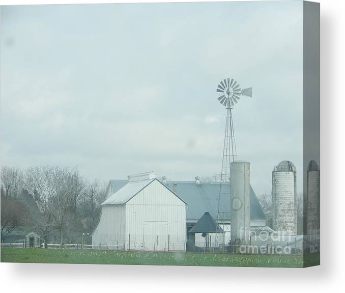 Amish Canvas Print featuring the photograph Amish Homestead 165 by Christine Clark
