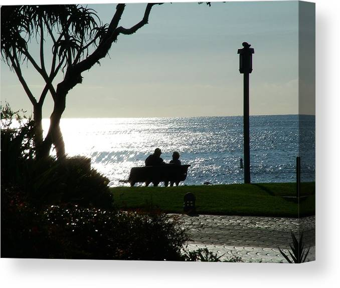Beach Canvas Print featuring the photograph An Good Stories by John Loyd Rushing