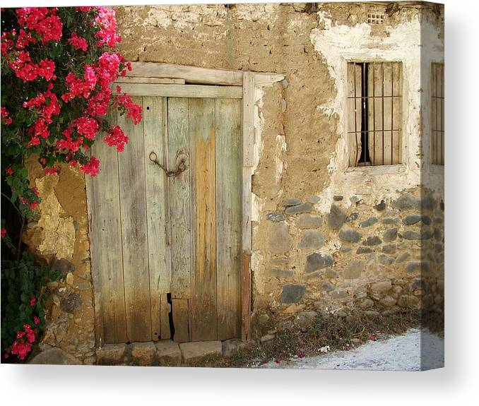 Cyprus Canvas Print featuring the photograph Ancient Door by John Loyd Rushing