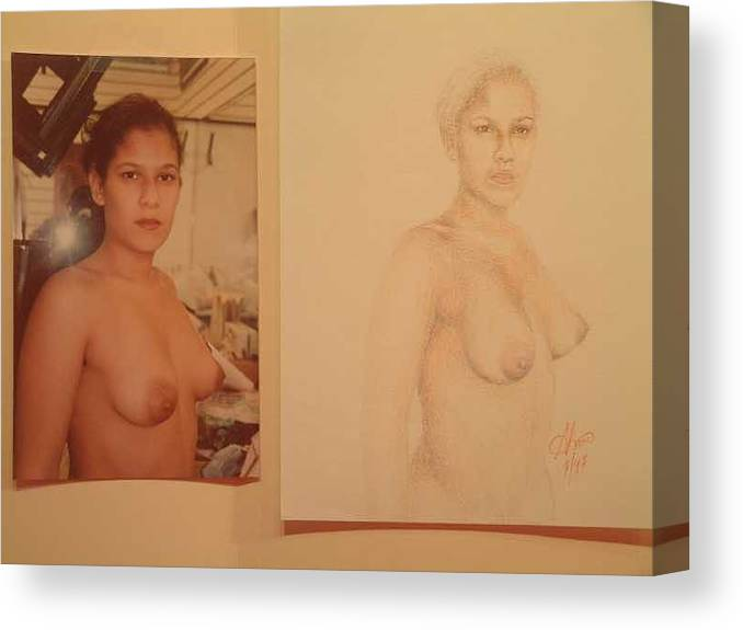 Nudes Canvas Print featuring the painting Anna by Benito Alonso