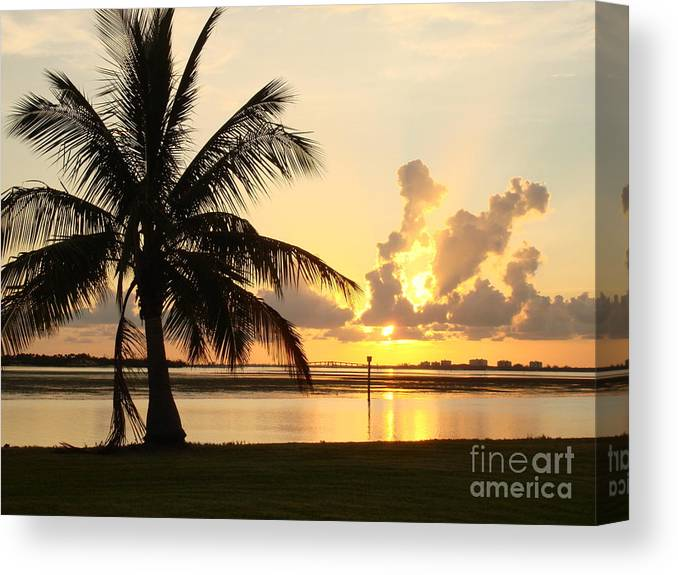 Sunset Canvas Print featuring the photograph Another Day In Paridise by Robyn Leakey