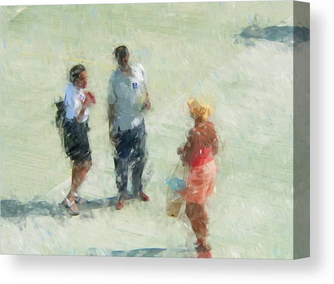 Vacation Canvas Print featuring the mixed media Antiguia Friends by Turhan Von Brandon