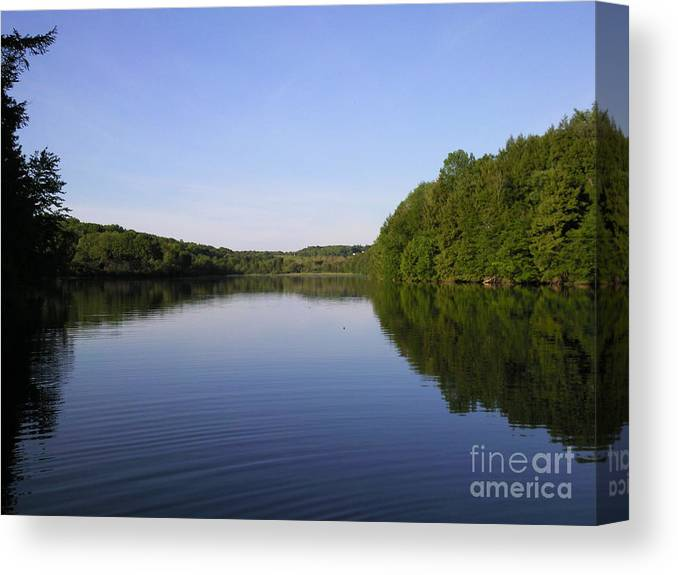 Around The Lake Photograph Photography Canvas Print featuring the photograph Around The Lake by Daniel Henning
