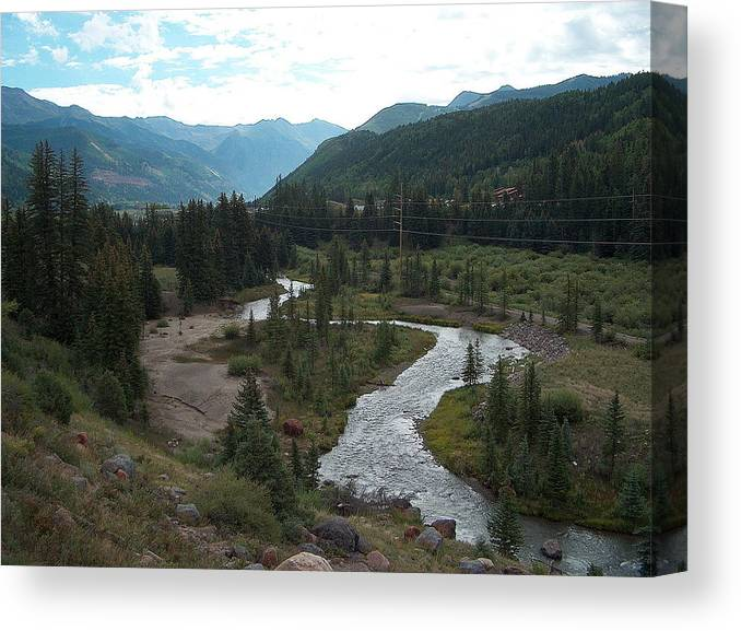 Landscape Canvas Print featuring the photograph August In Colorado by Janet Hall