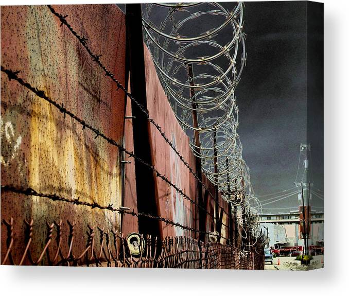 Wall Canvas Print featuring the photograph Ballard In Seattle by Jeff Burgess