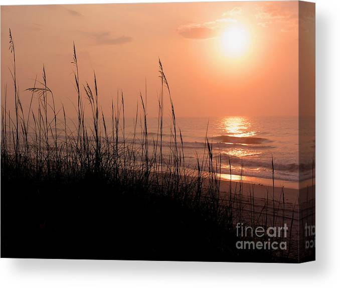 East Cost Canvas Print featuring the photograph Beach Sun by Paul Boroznoff