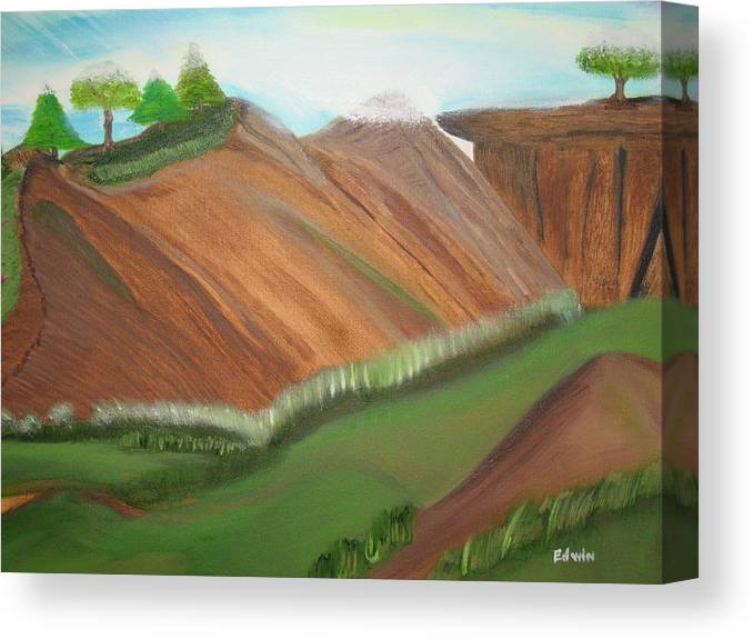Landscapes Canvas Print featuring the painting Beaulah Land by Edwin Long