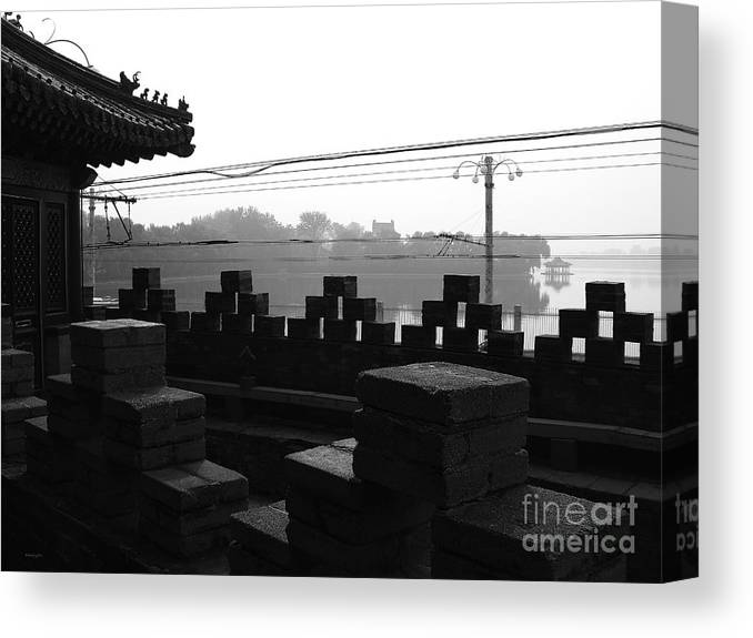 Beijing Canvas Print featuring the photograph Beijing City 1 by Xueling Zou