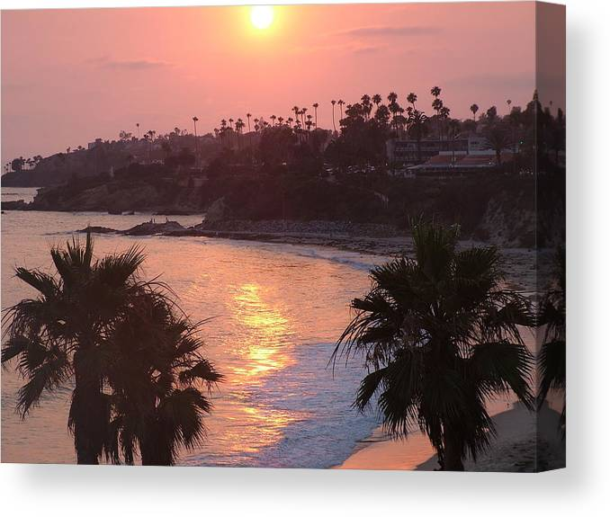 Ocean Canvas Print featuring the photograph Blazing Laguna by John Loyd Rushing