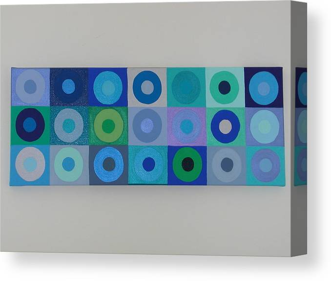 Blue Canvas Print featuring the painting Blue By You by Gay Dallek