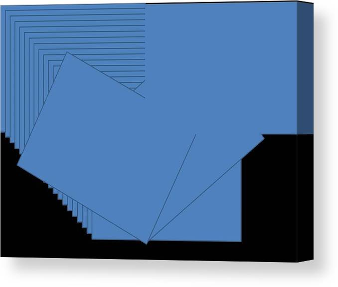 Canvas Print featuring the digital art Blue by Edith Womack