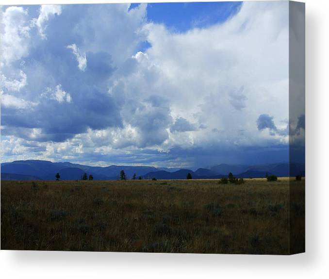 Colordo Canvas Print featuring the photograph Blue Skies by Allison Jones