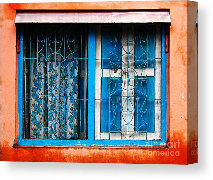 Window Canvas Print featuring the photograph Blue Window by Derek Selander