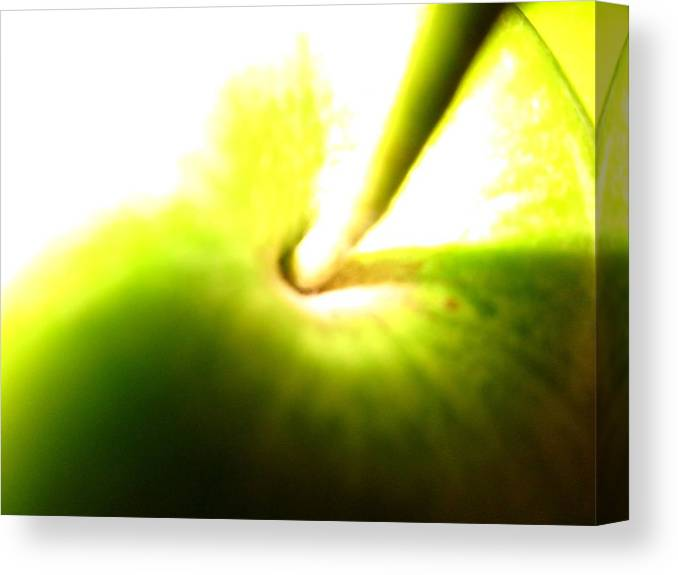Canvas Print featuring the photograph Bright Green Grannie by Miss McLean