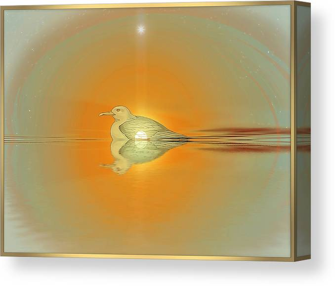 Symbolic Digital Art Canvas Print featuring the digital art Brooding by Harald Dastis