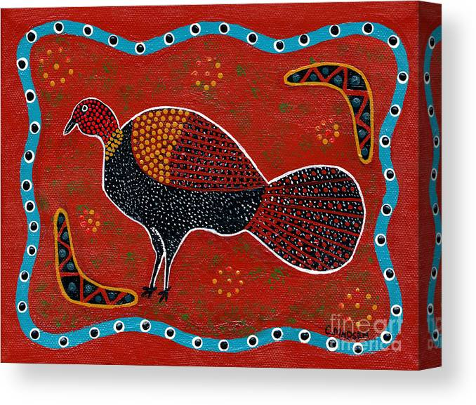 Brushturkey Canvas Print featuring the painting Brush Turkey by Clifford Madsen
