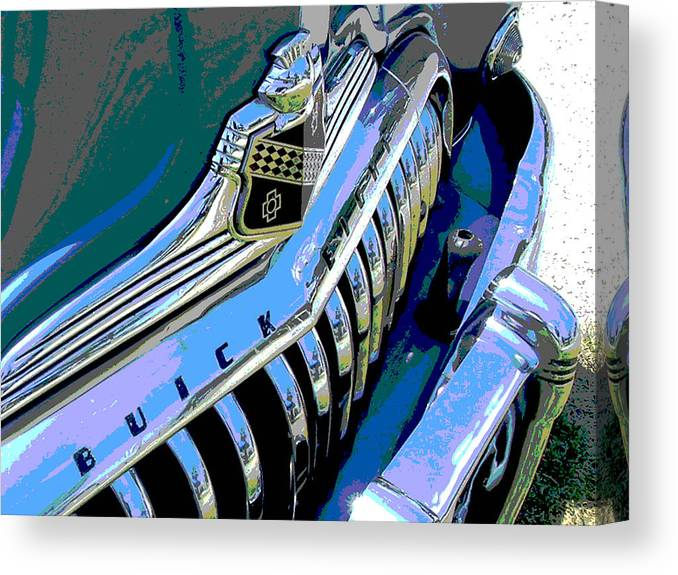 Car Canvas Print featuring the photograph Buick Eight by Audrey Venute