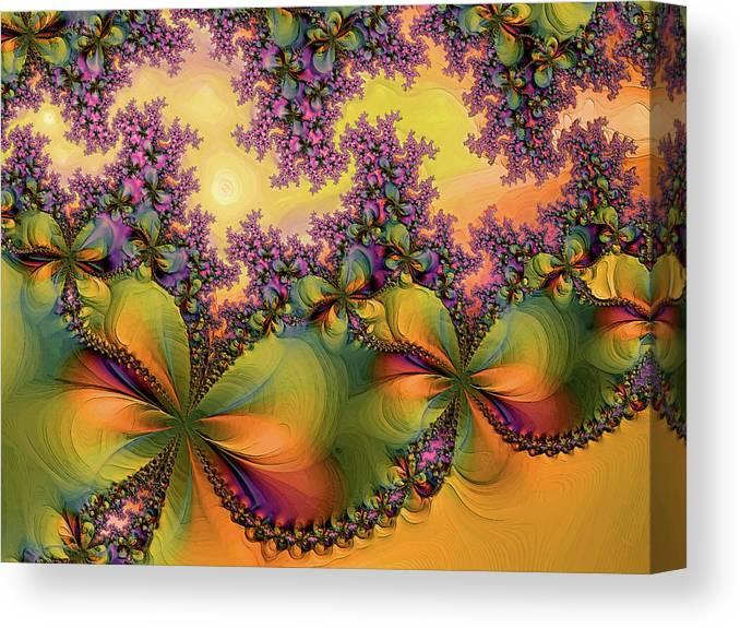 Digital Art Canvas Print featuring the digital art Butterflies 2 by Alexandru Bucovineanu