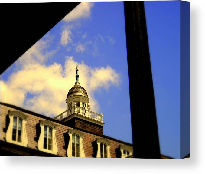 Canvas Print featuring the photograph Cabildo Cupola Jackson Square by Ted Hebbler