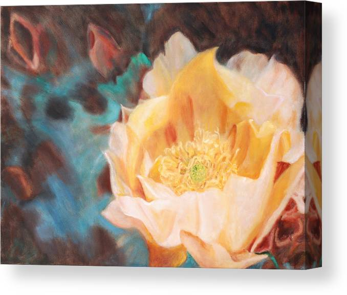 Cactus Canvas Print featuring the painting Cactus Blossom 1 by Suzy Taylor