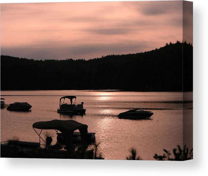 Photography Holderness Nh Photographs Canvas Print featuring the photograph Calm Morning by Michael Mooney
