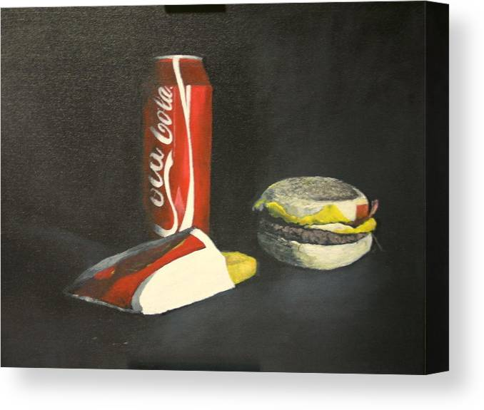 Still Life Canvas Print featuring the painting Caravaggio Eat Your Heart Out by Alan Thomas
