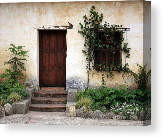 Carmel Mission Canvas Print featuring the photograph Carmel Mission Door by Carol Groenen