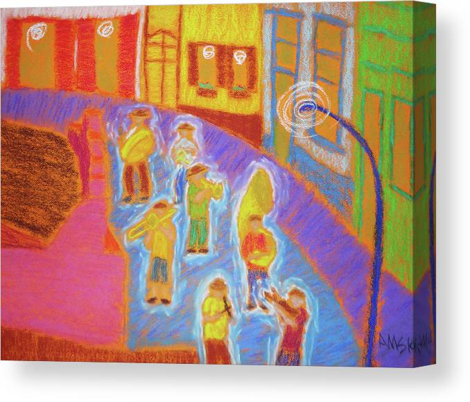 Carnaval Canvas Print featuring the pastel Carnaval Olinda by Andrey Komarcheuski