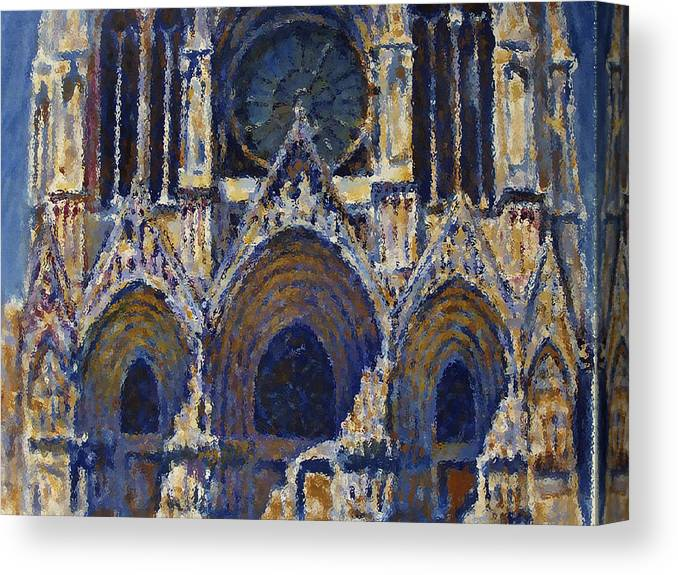 Sea Canvas Print featuring the painting Cathedral 1 by Valeriy Mavlo