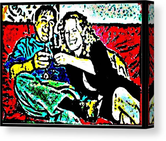 Friends Canvas Print featuring the painting Cheers by Christopher Thames