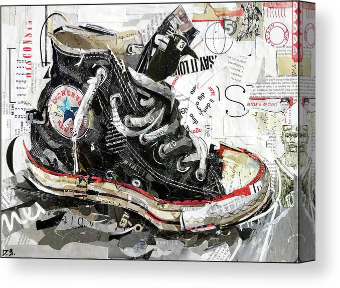 Canvas Print featuring the mixed media Chuck Taylor All-star by Daniel Gardiner