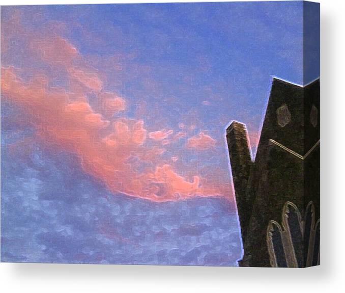 Church Canvas Print featuring the photograph Church At Sunset Ae by Lyle Crump