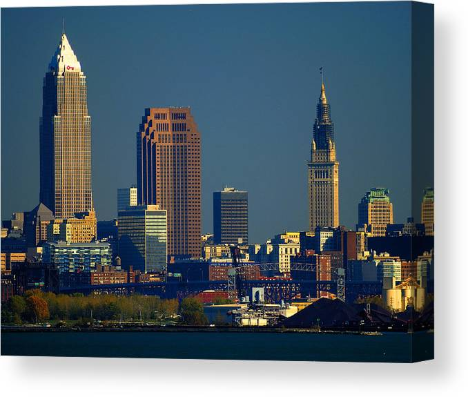 Cleveland Canvas Print featuring the photograph Cleveland by Neil Doren