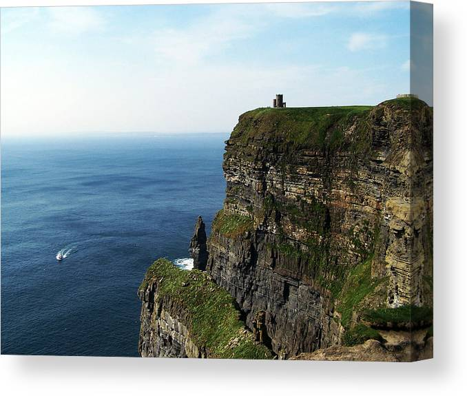 Irish Canvas Print featuring the photograph Cliffs Of Moher Ireland by Teresa Mucha